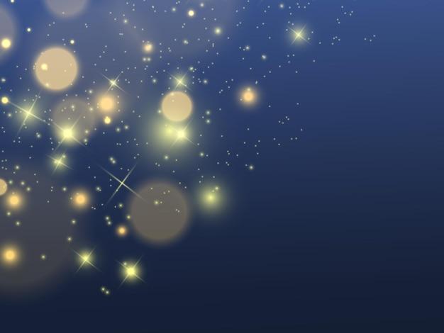 Glow light effect star barstte met glitters