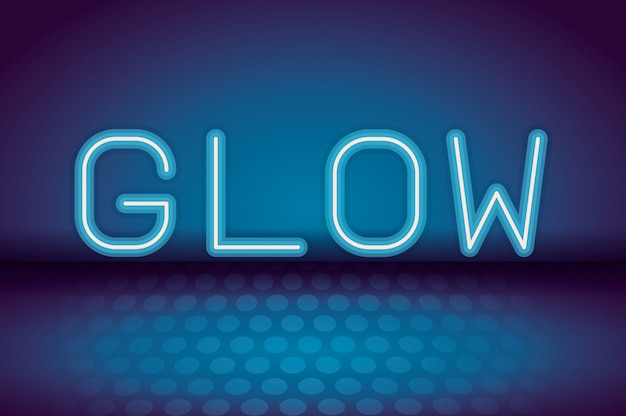 Glow neonreclame