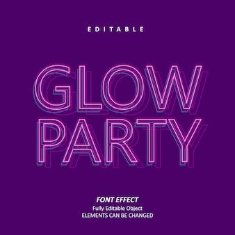 Glow party neon teksteffect premium