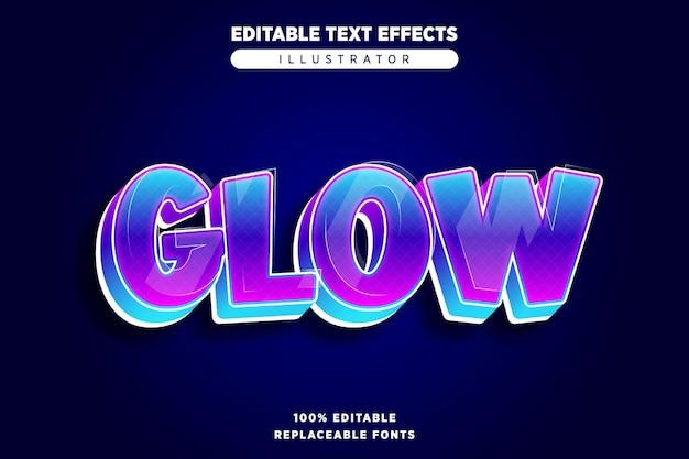 Glow teksteffect bewerkbaar
