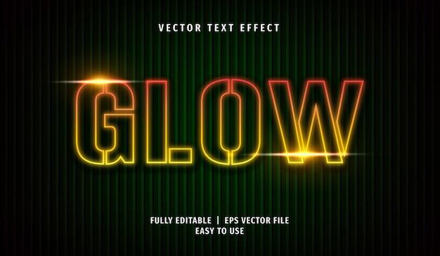 Glow text-effect, bewerkbare tekststijl