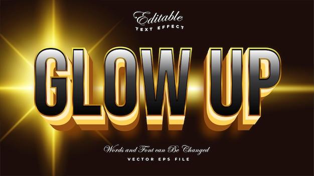 Glow up teksteffect Gratis Vector