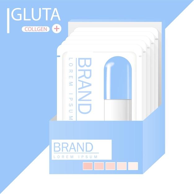 Glutathione-verpakking met capsule en het derde ingrediënt