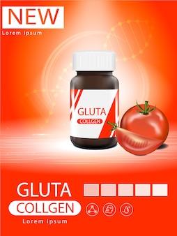 Glutathione-verpakking met capsule