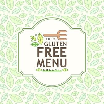 Glutenvrij pictogram, glutenvrij teken geïsoleerd op witte achtergrond.