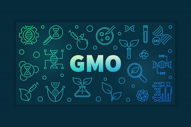 Gmo colful lineaire banner op donker