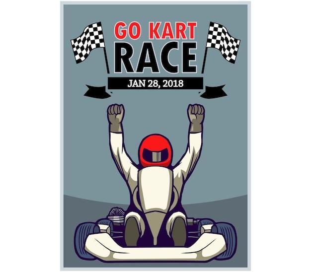 Go kart race poster