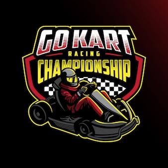 Go kart racing kampioenschap badgeontwerp