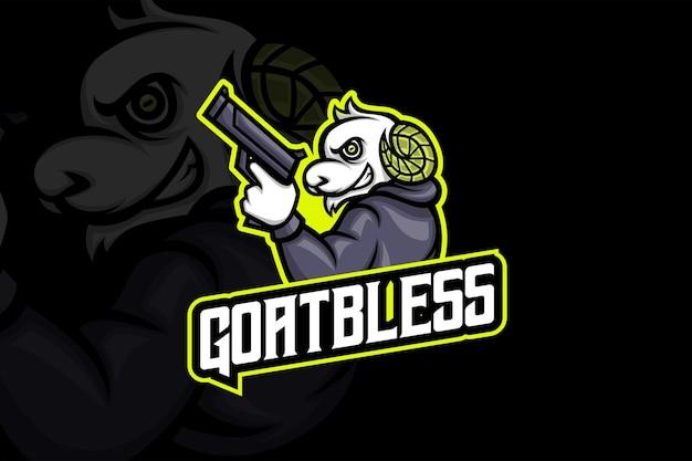 Goat bless - esport-logo sjabloon