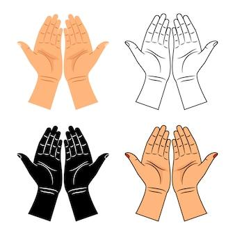 God bidt gezegende handen