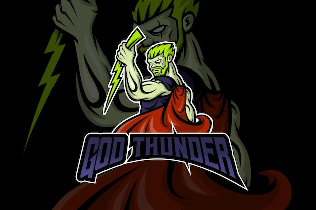 God thunder esport-logo sjabloon