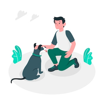 Goed doggy illustratieconcept