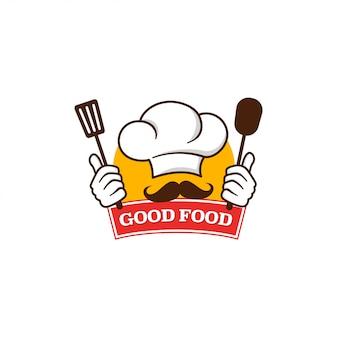 Goed eten logo sjabloon