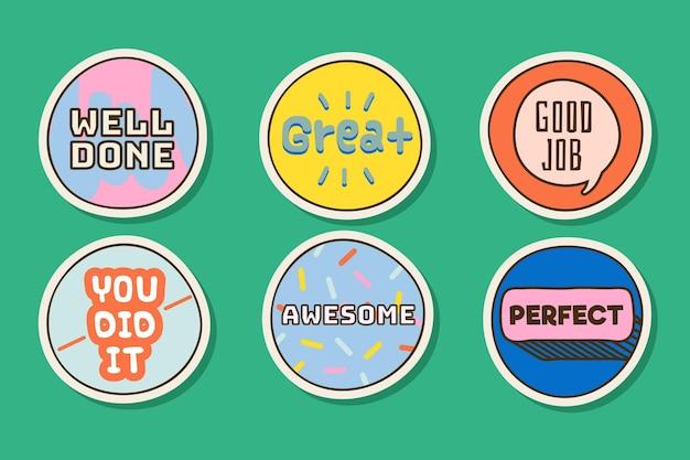 Goed gedaan stickerscollectie