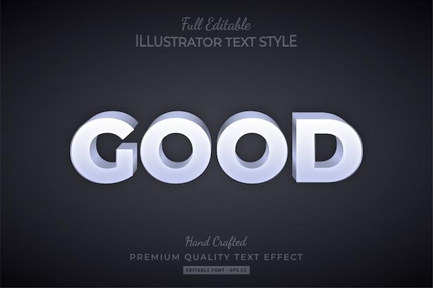 Goed schoon bewerkbaar 3d-tekststijleffect premium