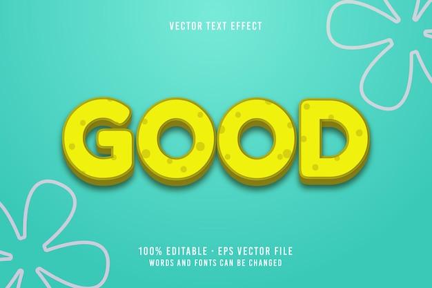 Goed tekstbewerkbaar lettertype-effect