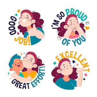 Goed werk stickers collectie