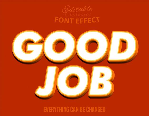 Goede baantekst, bewerkbaar teksteffect in 3d jeugdstijl