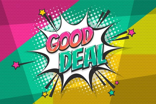 Goede deal verkoop burst wow gekleurde komische tekst collectie geluidseffecten pop-art stijl tekstballon