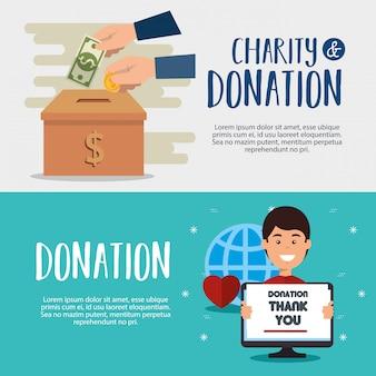 Goede doelen donatie banners