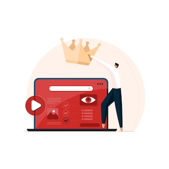 Goede kwaliteit van inhoud voor krachtig marketingbedrijf inhoudsbeheer en optimalisatie verhoog het webverkeer