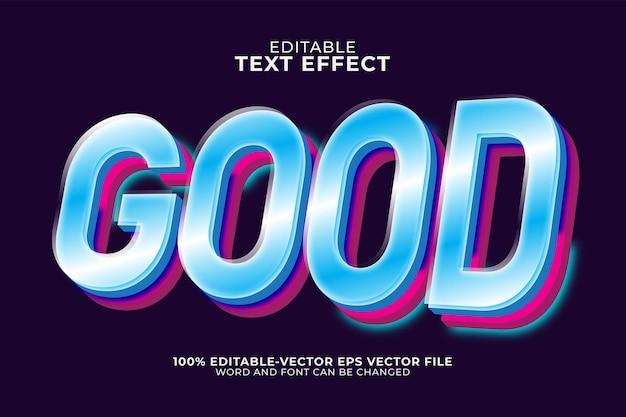 Goede teksteffectsjabloon