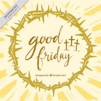 Goede vrijdag achtergrond met kroon van doornen