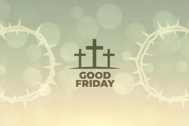 Goede vrijdag achtergrond met kruis symbool ontwerp