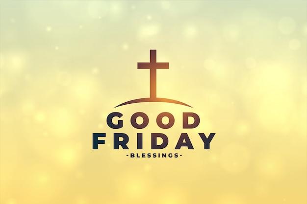 Goede vrijdag concept achtergrond met kruis symbool