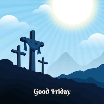 Goede vrijdag illustratie