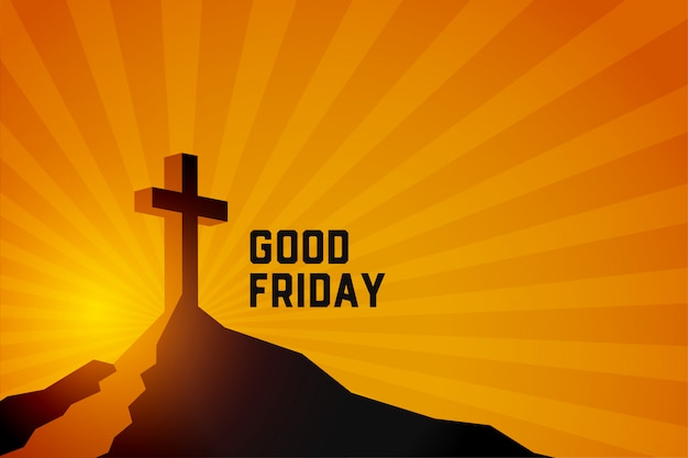 Goede vrijdag opstanding van jezus christus scène achtergrond