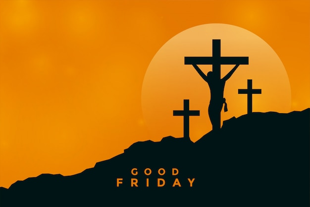 Goede vrijdagachtergrond met de kruisigingsscène van jesus-christus
