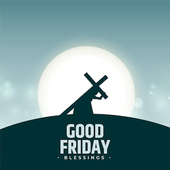 Goede vrijdagzegeningen met jezus die kruis draagt