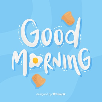 Goedemorgen die van decoratieve achtergrond van letters voorzien