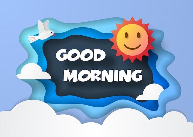 Goedemorgen papier gesneden stijl