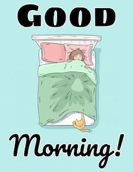 Goedemorgen schattige ansichtkaart