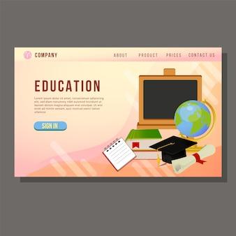 Goederen voor bestemmingspagina onderwijs op school