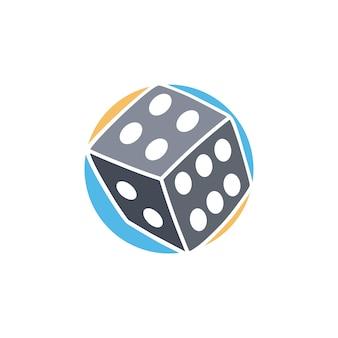 Gok dobbelstenen pictogram eenvoudige platte logo vector