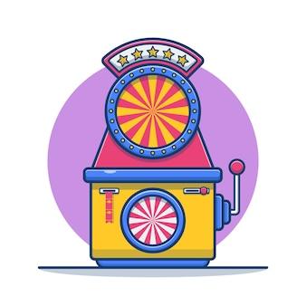 Gokautomaat met amusementspark voor carnaval cartoon