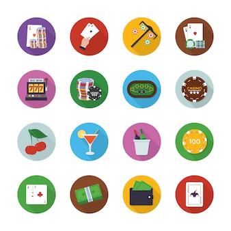 Gokken uitrusting pictogrammen
