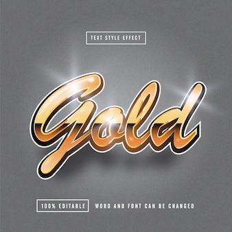 Gold bright teksteffect bewerkbaar