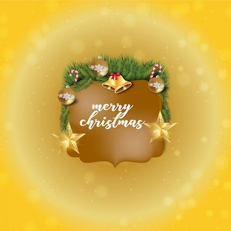 Golde christams grass greetings card