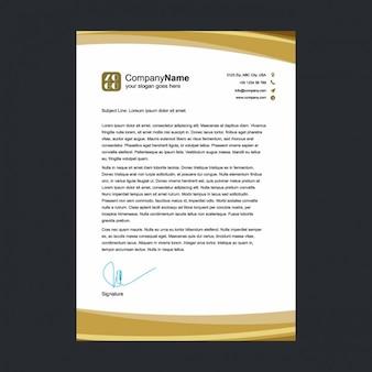 Golden briefpapier