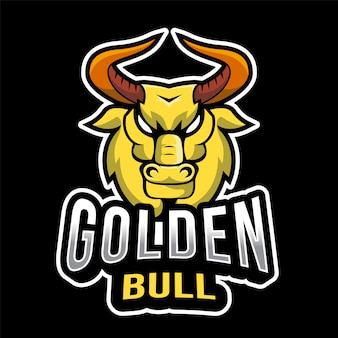 Golden bull esport logo sjabloon