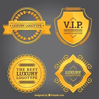 Golden flat luxe logo