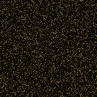 Golden glitter sparkle bubbles champagne particles stars on blac
