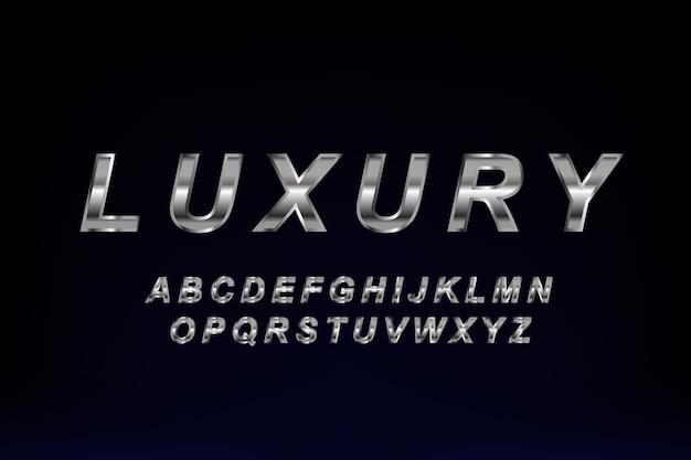 Golden luxury font design