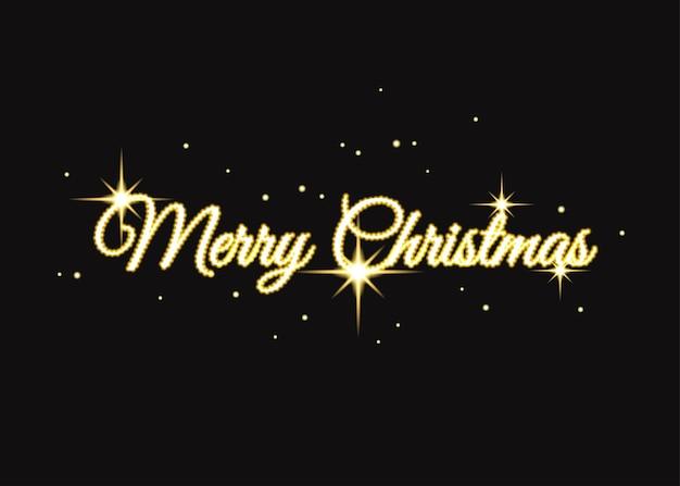 Golden merry christmas sign gold xmas typografie voor kaart poster flyer uitnodiging