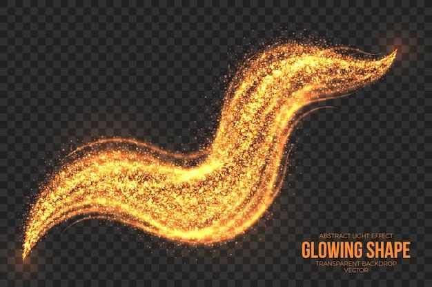 Golden shimmer glowing shape achtergrond