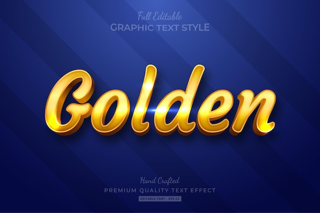 Golden shine bewerkbare teksteffect lettertypestijl